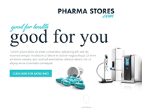 Pharma E-Commerce Mockup