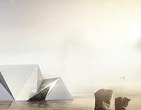 Architecture postproduction. Sandstorm