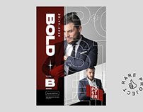 Free BOLD Poster Design Template - Rare Projects