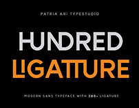 FREE | Hundred Ligatture Sans Serif