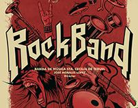 RockBand. Cartel para concierto