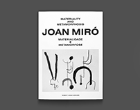 Joan Miró – Exhibition Catalogue