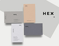 Hex Business Card Print Template