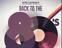 80s-90s Retro Party Flyer Template
