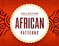 Collection african vector patterns.