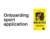 Onboarding sport application