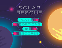 Solar Rescue Game Menu