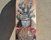 """Samurai"" acrylic on board"