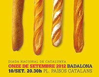 Cartells per la Diada Nacional de Catalunya de Badalona