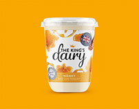 The King's Dairy Yogurt Packaging and Website