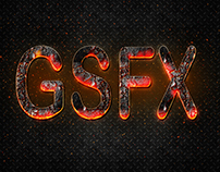 Fire Text Effect in Photoshop cc 2018 tutorial with Gir