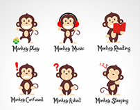 Monkey Character | Vector