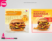 Burger Social Media Template Set