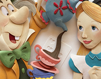 Alice in Wonderland paper sculpture