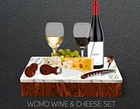 WOMO Wine & Cheese Set
