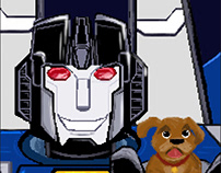 A robot and his dog.