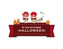 Diseños e ilustraciones para vidriera Halloween CJ