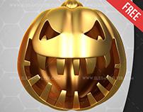 Gold Pumpkin – Free 3d Render Templates