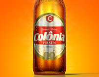 Mockup digital de cerveja 600ml | Cervejaria Colônia