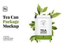 Tea Can Package Mockup