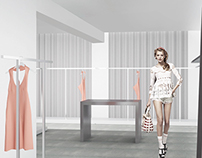 Interior design of THE glamour shop