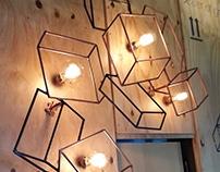 Ice cube Fall Design for Clock's Pub