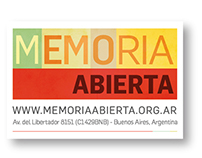 "Visual Identity design for ""Memoria Abierta"" - 2013"