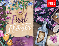 (Free) Floral Watercolor Illustrations Collection