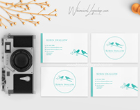 Robin Swallow Photography  Custom-made Logo Cards