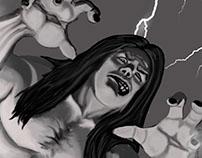 Frankenstein Monster - grayscale