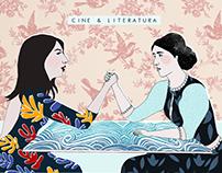 Cine & Literatura - P. Kahlo - mixed media