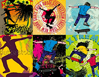 skateboarding vector art graphic design