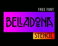 BELLADONA STENCIL | Free Font