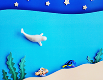 KINDER SORPRESA Dory - papercraft animation