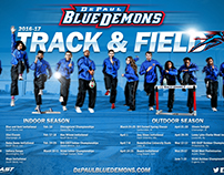 Track & Field Horizontal Poster