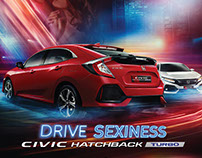 "HONDA CIVIC HATCHBACK TURBO ""DRIVE SEXINESS"" 2017"