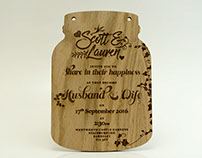 Laser Etched Wedding Invites