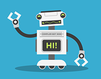 Compiler-Bot character design and animation