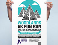 Woodland Charity Fun Run Poster