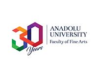 30th anniversary logo for A.U. Fac. of Fine arts