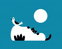 Bird & cat