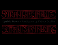 Stranger Things Logo Ambigram
