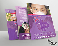 The Purple Society Printed Information Sheets