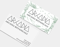Business Cards - Arcadia Botanicals
