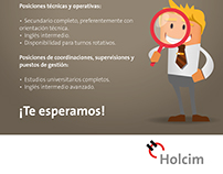 Afiche FEET 2017 para Holcim Argentina.