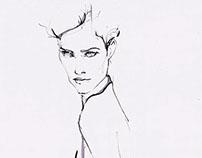 Fashion Illustration--Experimental