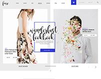 Fonré. - Creative Online Shop PSD templates.