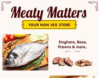 Non Veg Food items Mailer Design
