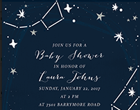 Lunar Baby Shower Party & Invitation Design