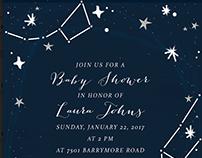 Lunar Baby Shower Party & Invitation Design